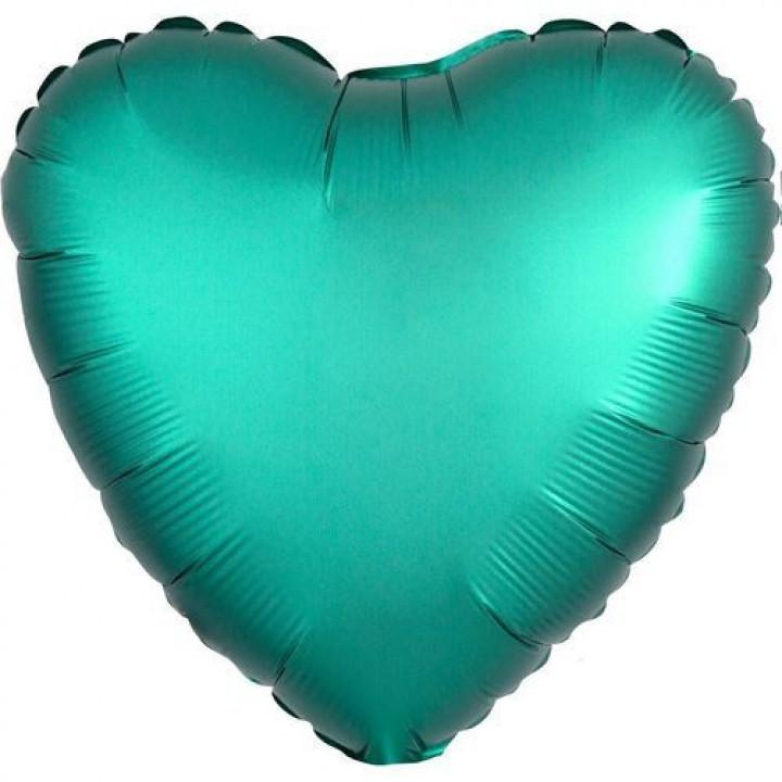 Сердце Сатин нефритовый
