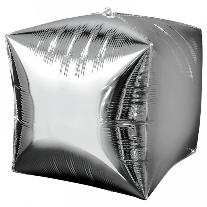 3D Куб серебро
