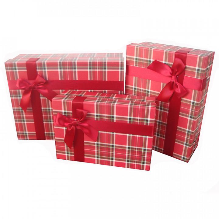 Коробка Строгий вишневый прямоугольник 29*21,5*10 см