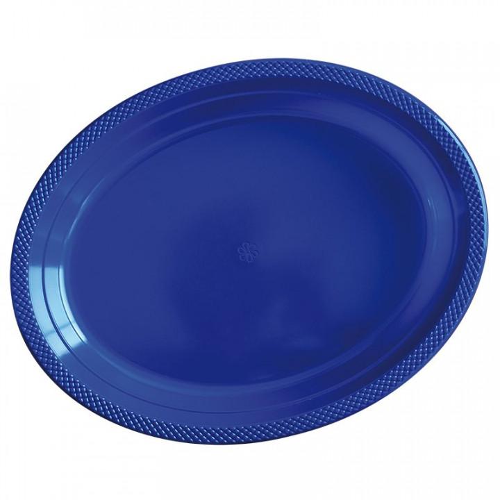 Тарелки  пластиквые Делюкс  Синие 5 шт