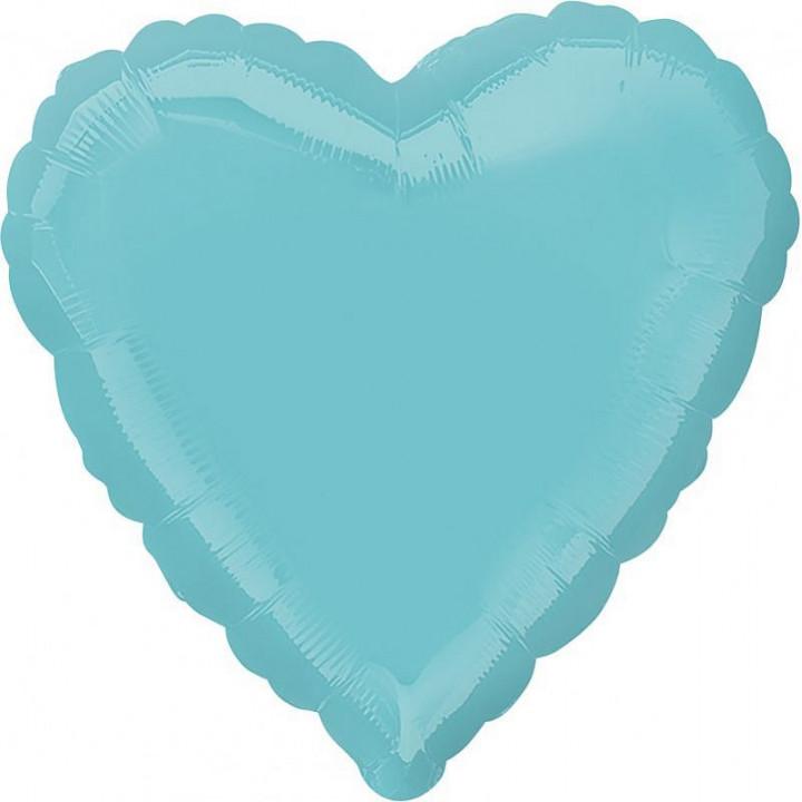 Фольгированный шар сердце бирюзовый