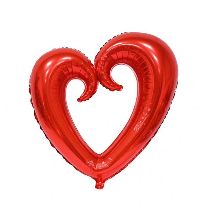 Фольгированный шар сердце фигурное красное