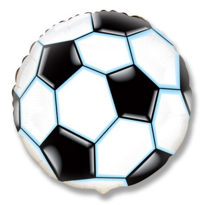 Круг Футбольный мяч Черный