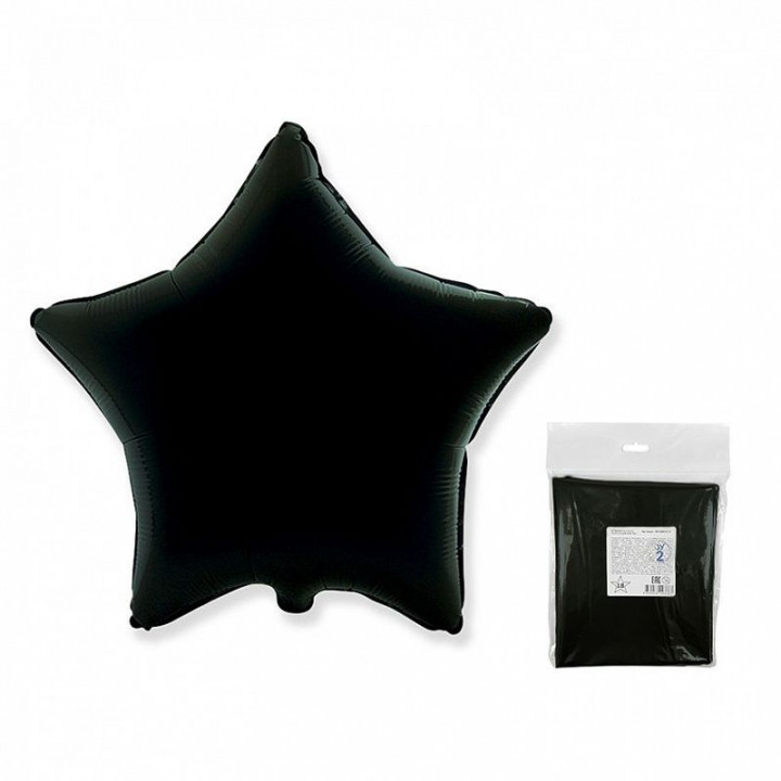 Звезда Черная в упаковке 5 шт.