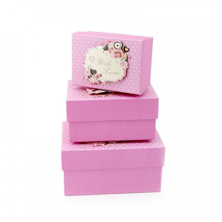 Коробка Любовь и шоколад Розовый 11*7,8*5,5 см